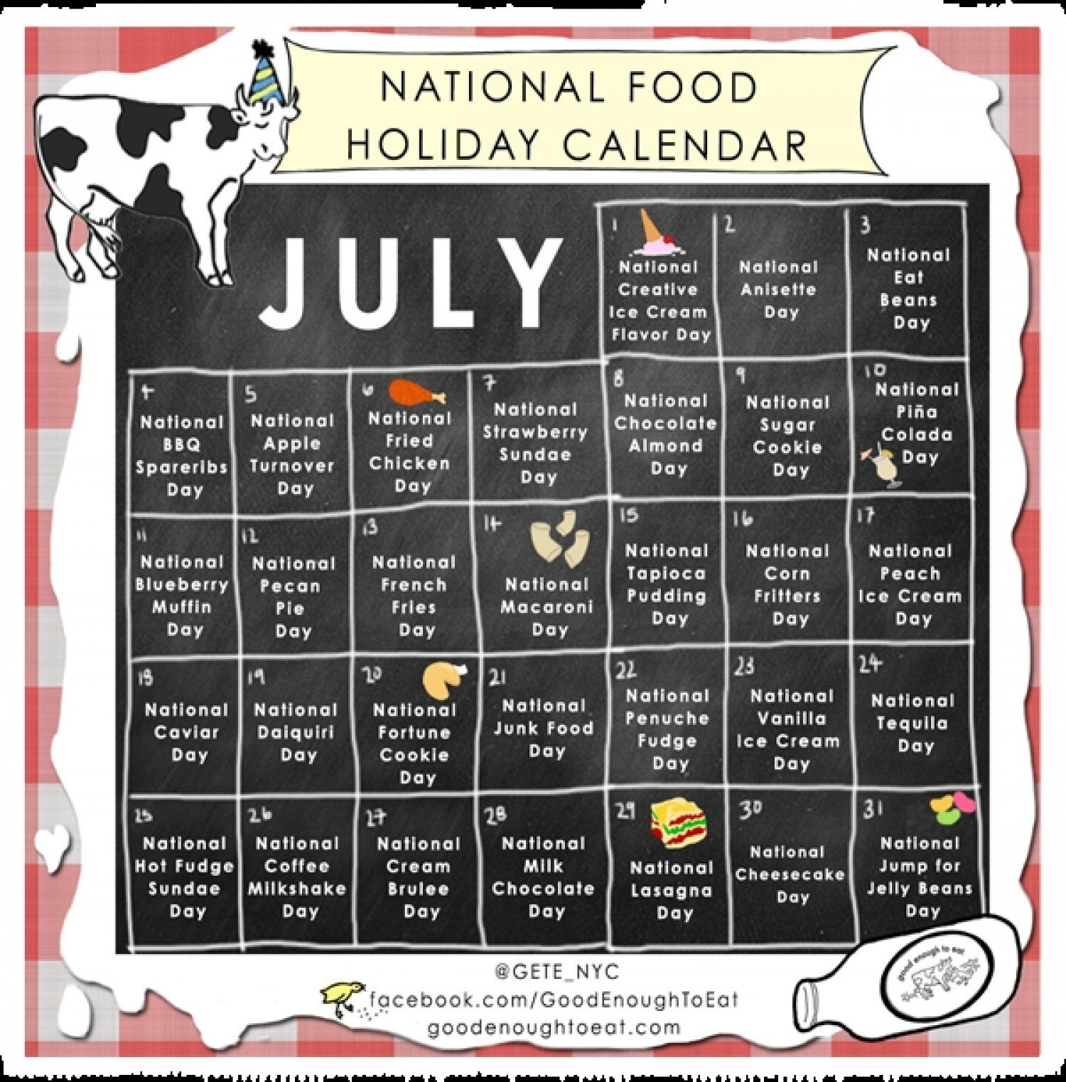 Pinone Table|One World On Recipes Galore! | National Food Day within National Food Day Calendar Printable