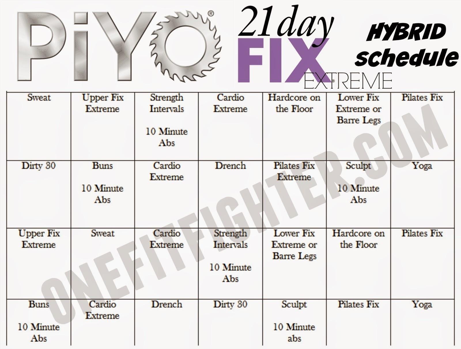 Piyo/ 21Day Fix Hybrid Week One - Katy Ursta with regard to Insanity Max 30/piyo Hybrid Calendar