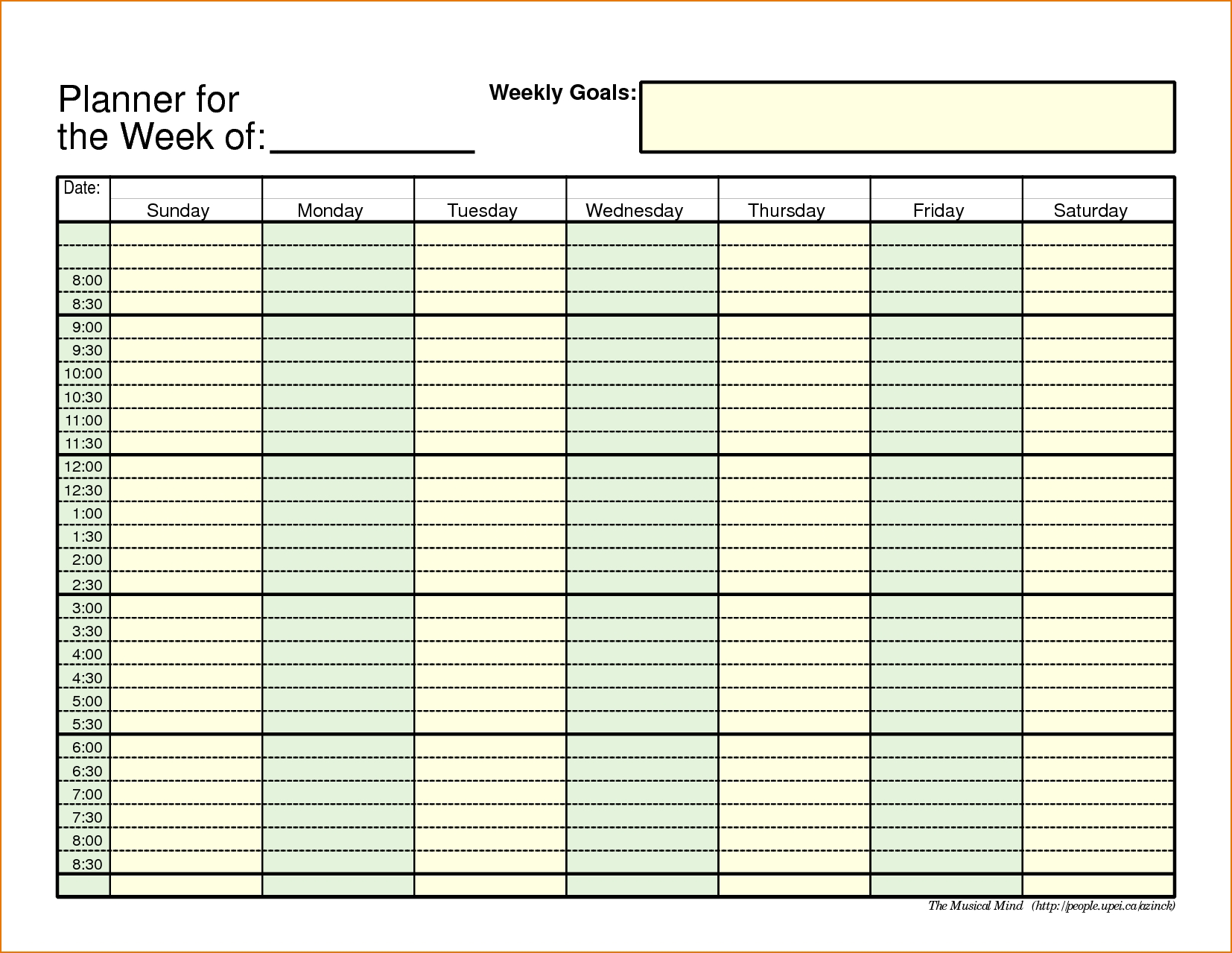Planning Excel Mplate Weekly Planner Knoswitch Plan Personal Budget with Excel Day Planner Template Free