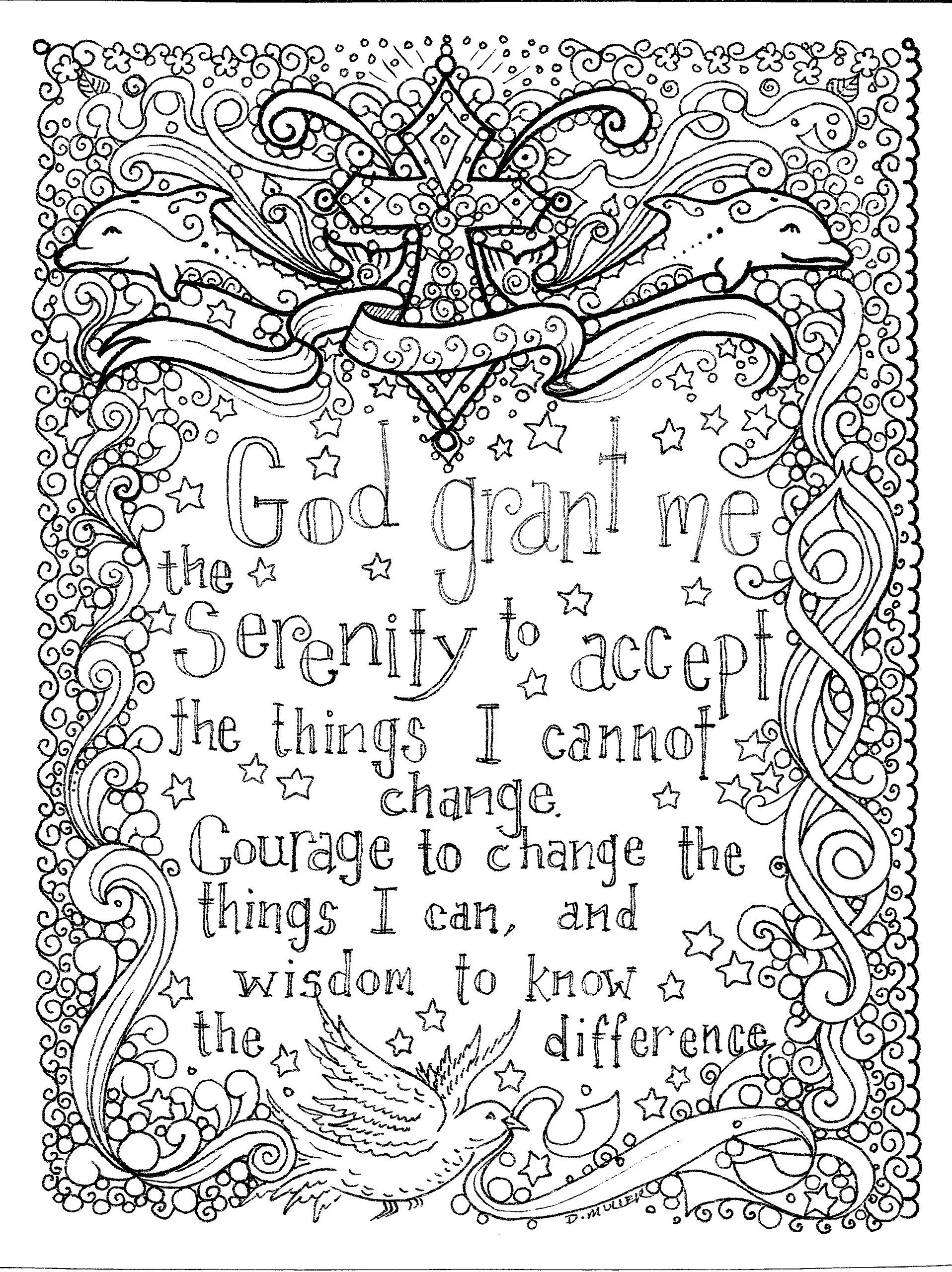 Prayers To Color An Adult Coloring Book: Deborah Muller/chubby pertaining to August Printable Images To Color