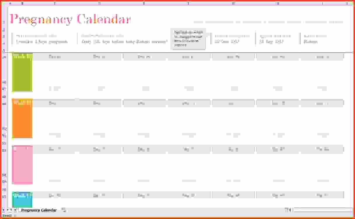 Pregnancy Calendars Weekweek - Maco.palmex.co with Pregnancy Week To Month Calendar