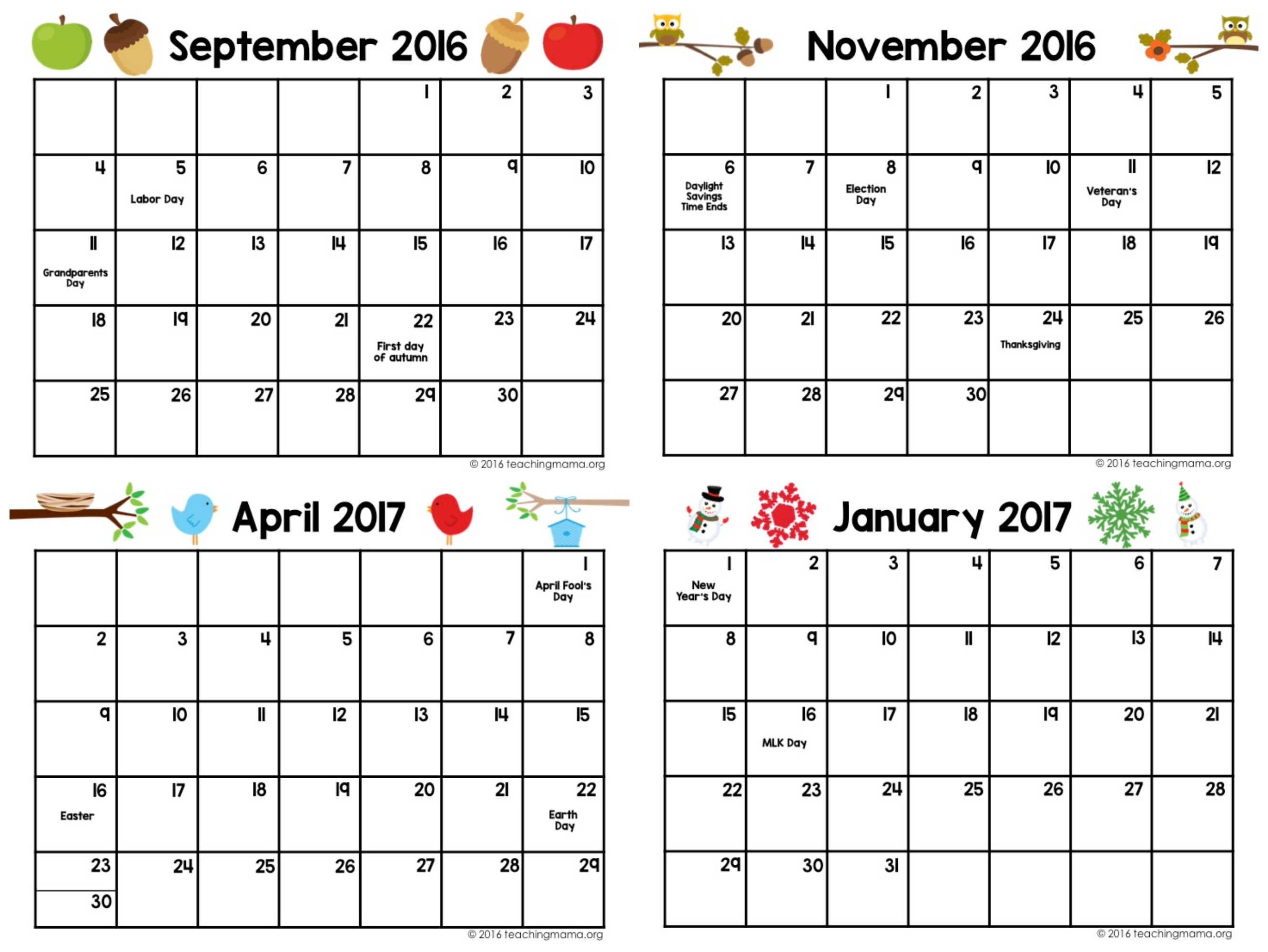 Preschool Calendar Templates – Emmamcintyrephotography regarding Template Printable For Monthly Calendar Lesson Plans For Childrens Church