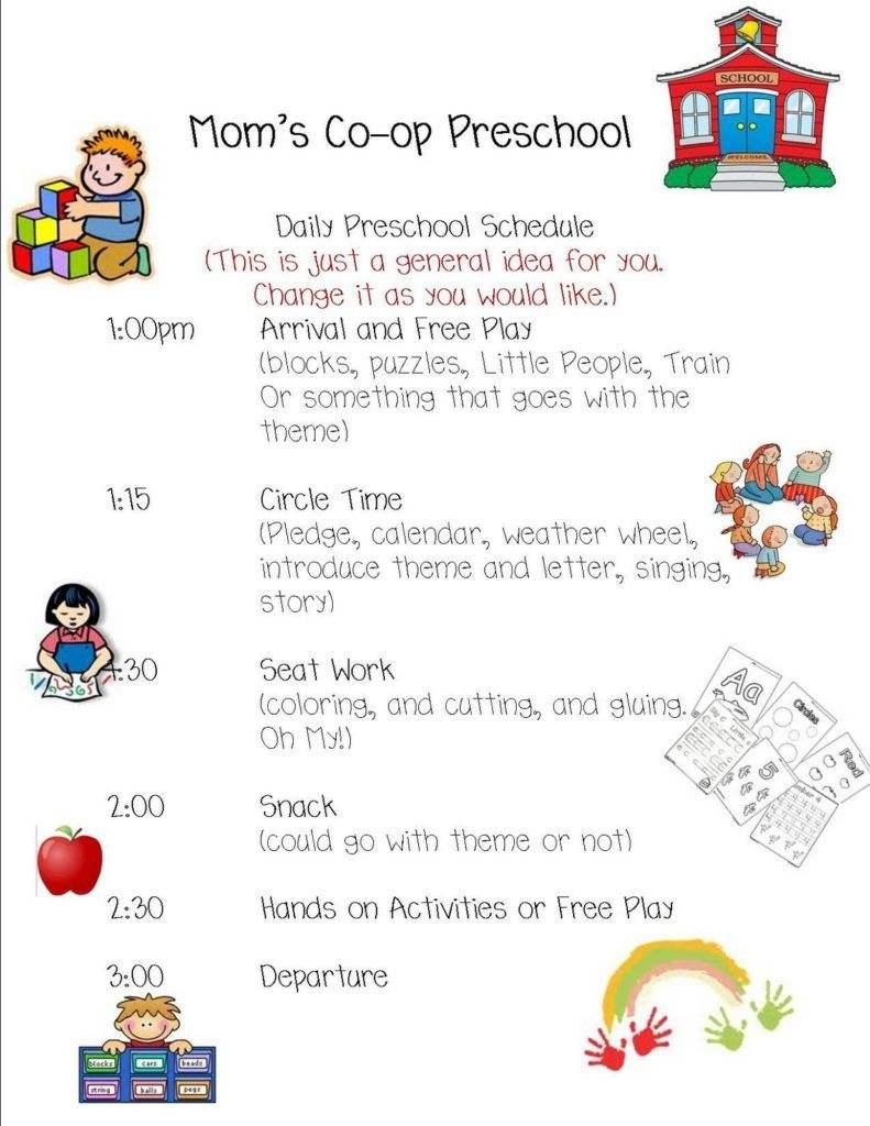 Preschool Daily Schedule | Daycare Lessons | Daily Schedule with regard to Free Preschool Template For Schedule