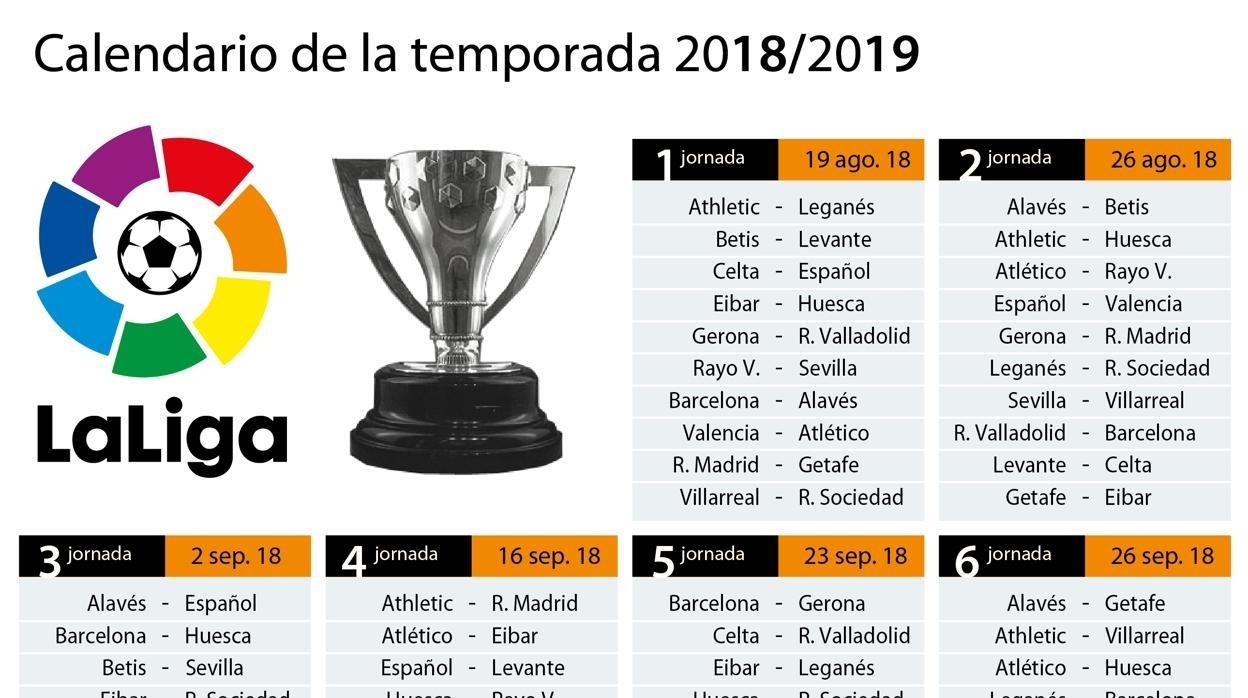 Primera División: Consulta El Calendario Completo De La Liga 2018/19 within Calendario 2006 Para Imprimir Espaa