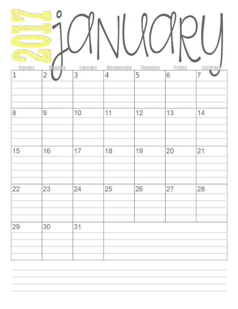 Print These Simple Lined Monthly Calendars For Free. | Quotes And with Free Monthly Calendars To Print