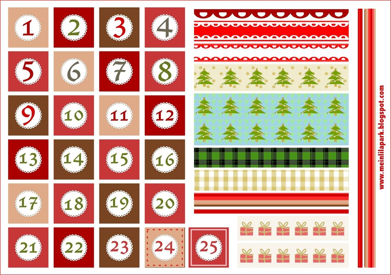 Printable Advent Calendar Number Calendar Template 2019 Calendar for Large Printable Calendar Numbers 1-31