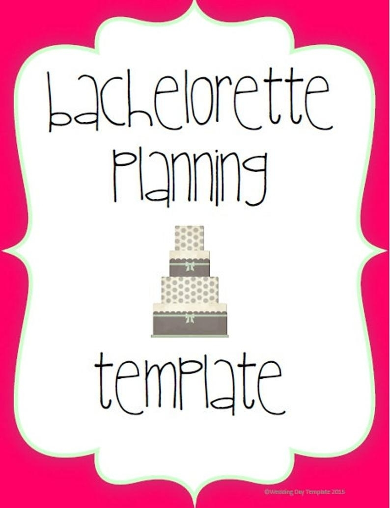 Printable Bachelorette Planning Template | Etsy throughout Bachelorett Fill In Blank Templets