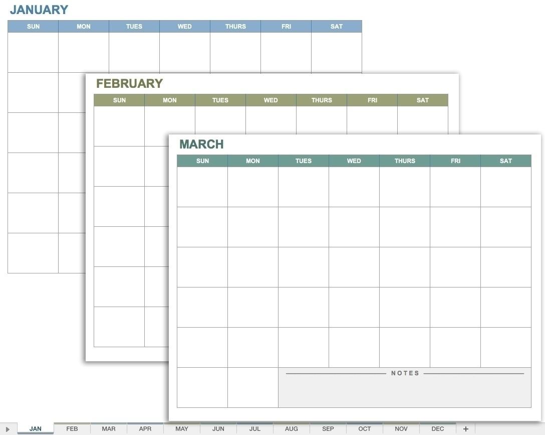 Printable Blank 12 Week Calendar Template | Template Calendar Printable for Printable Blank 12 Week Calendar Template