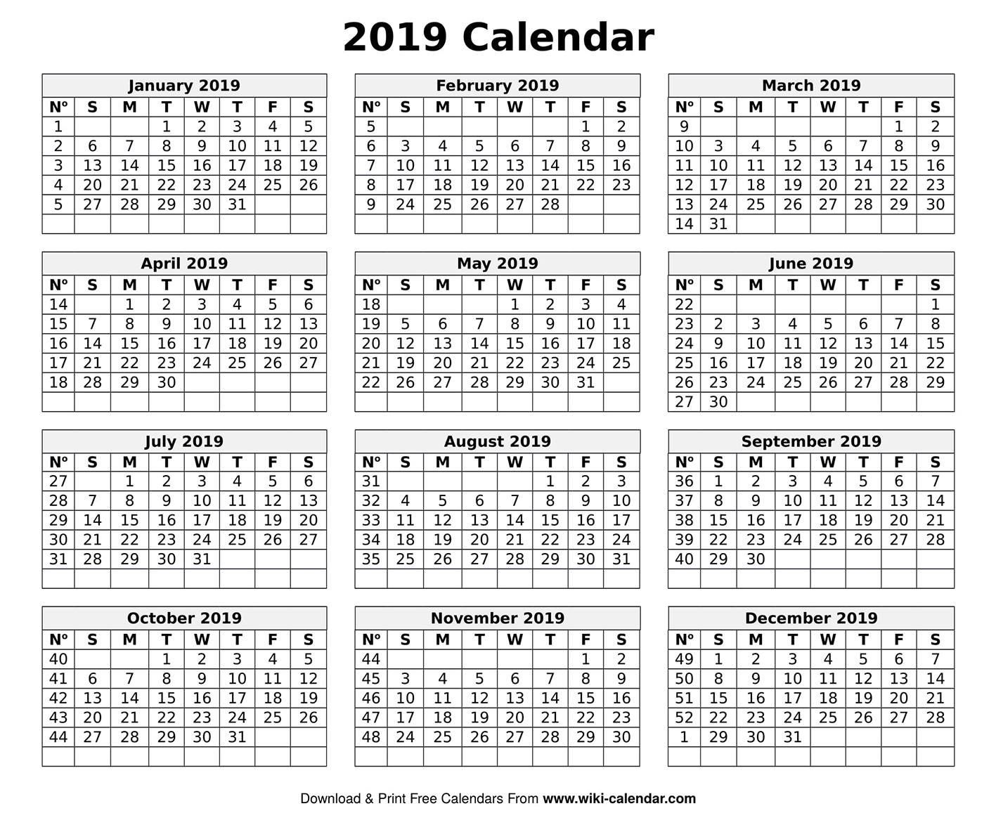 Printable Blank 2019 Calendar Templates regarding Frame Birthday Calendar Templates Free