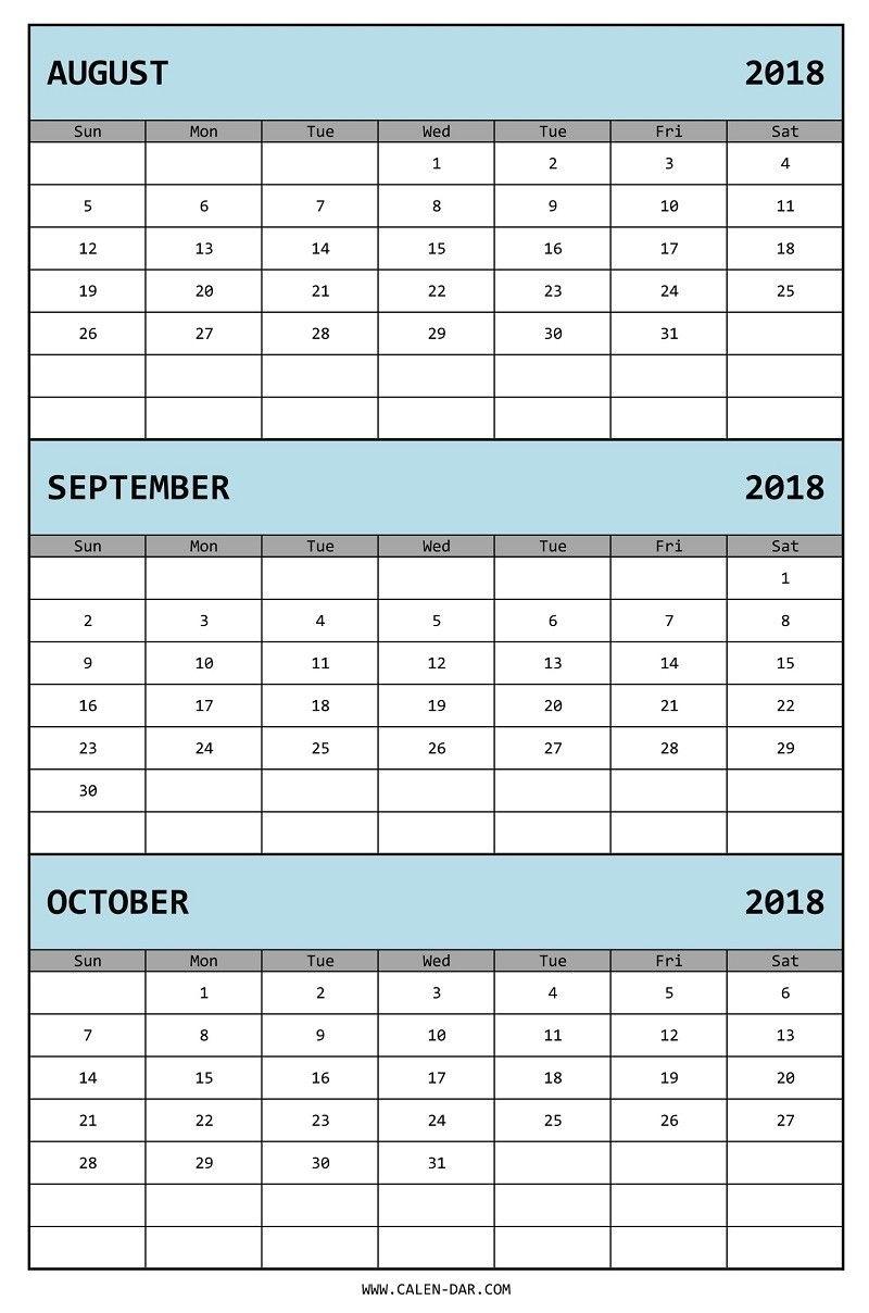 Printable Blank 3 Month Calendar | Template Calendar Printable for Free Printable Three Month Calendar