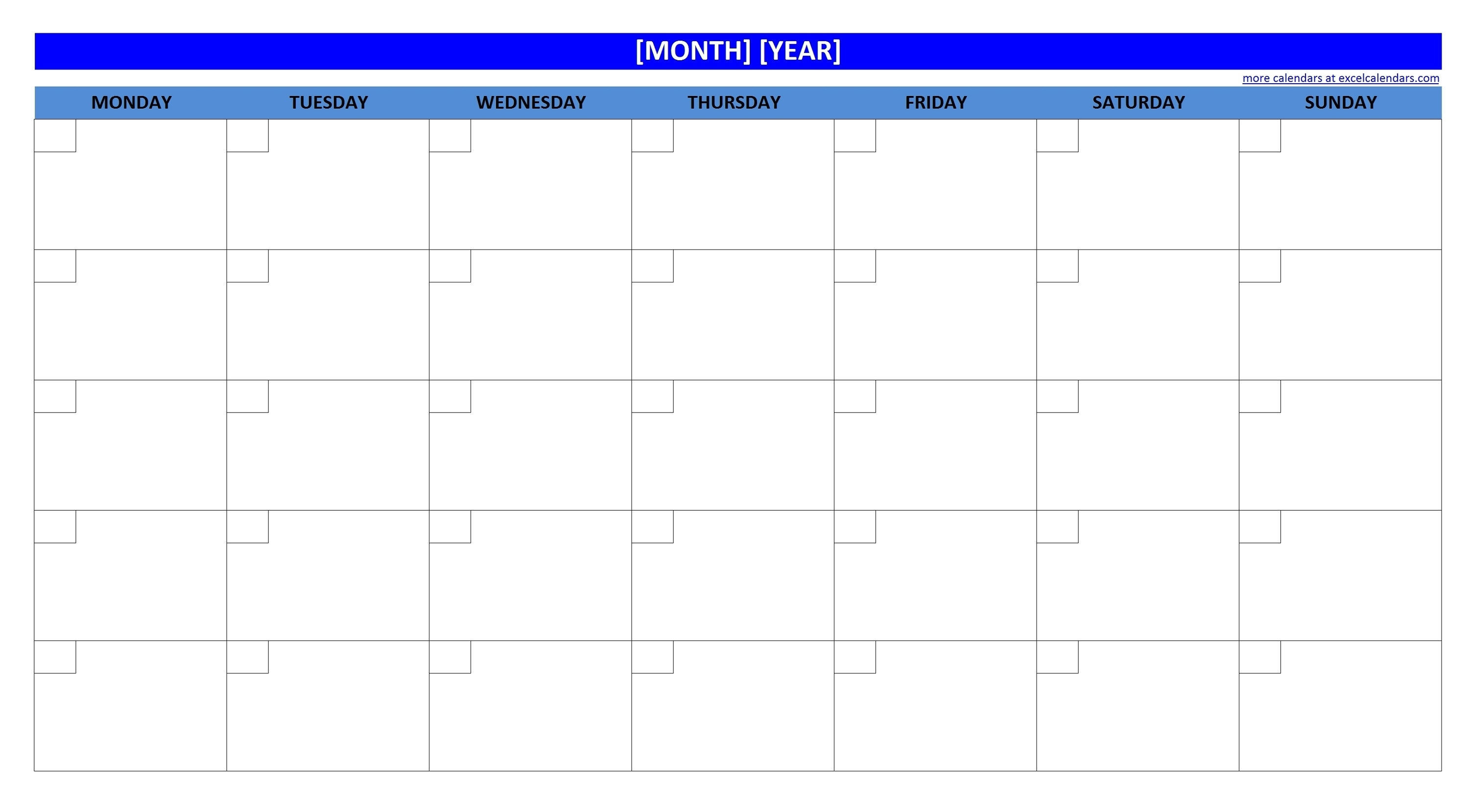 Printable Blank Monthly Calendar | Activity Shelter with regard to Calender Without Numbers And Month