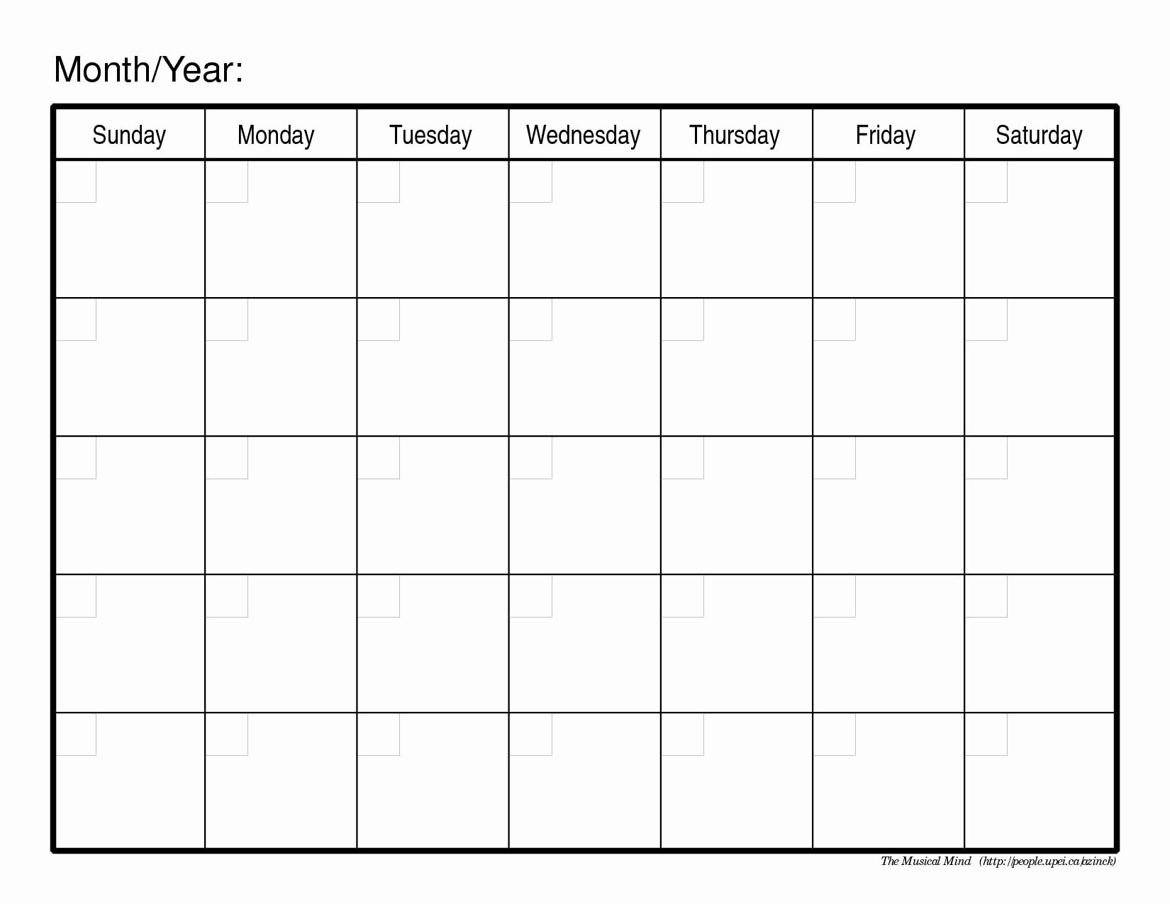 Printable Blank Weekly Calendar Template Http Calendartemplateku Com intended for Monthly Calendar Templates Monday To Friday