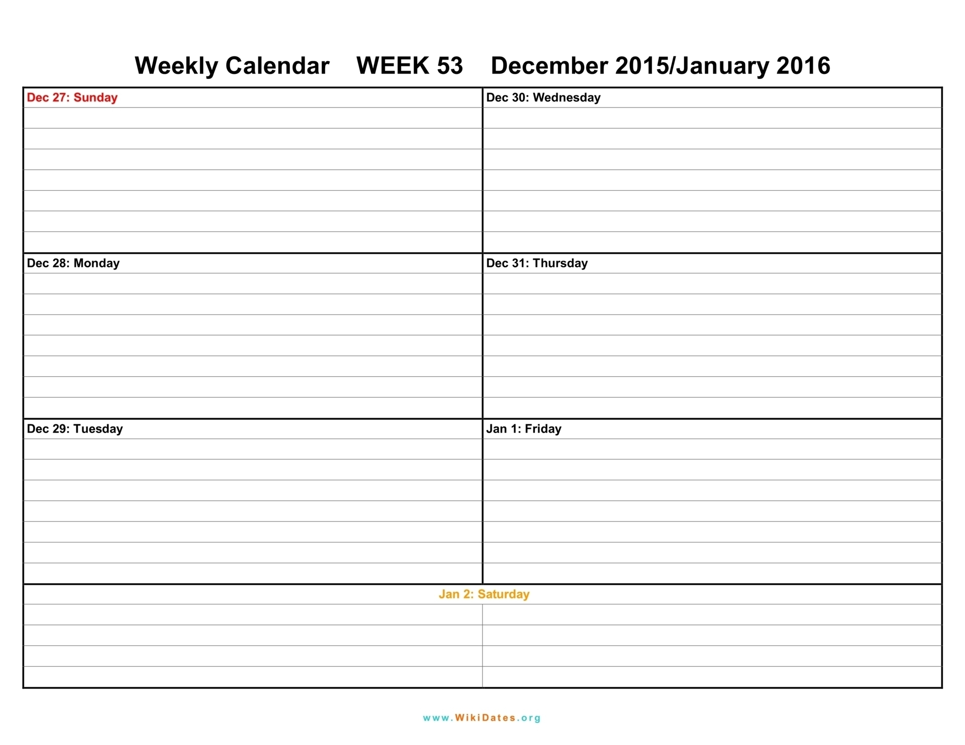 Printable Blank Weekly Calendar Template Schedule Pdf Download Them with regard to Full Size Weekly Calendar Templates