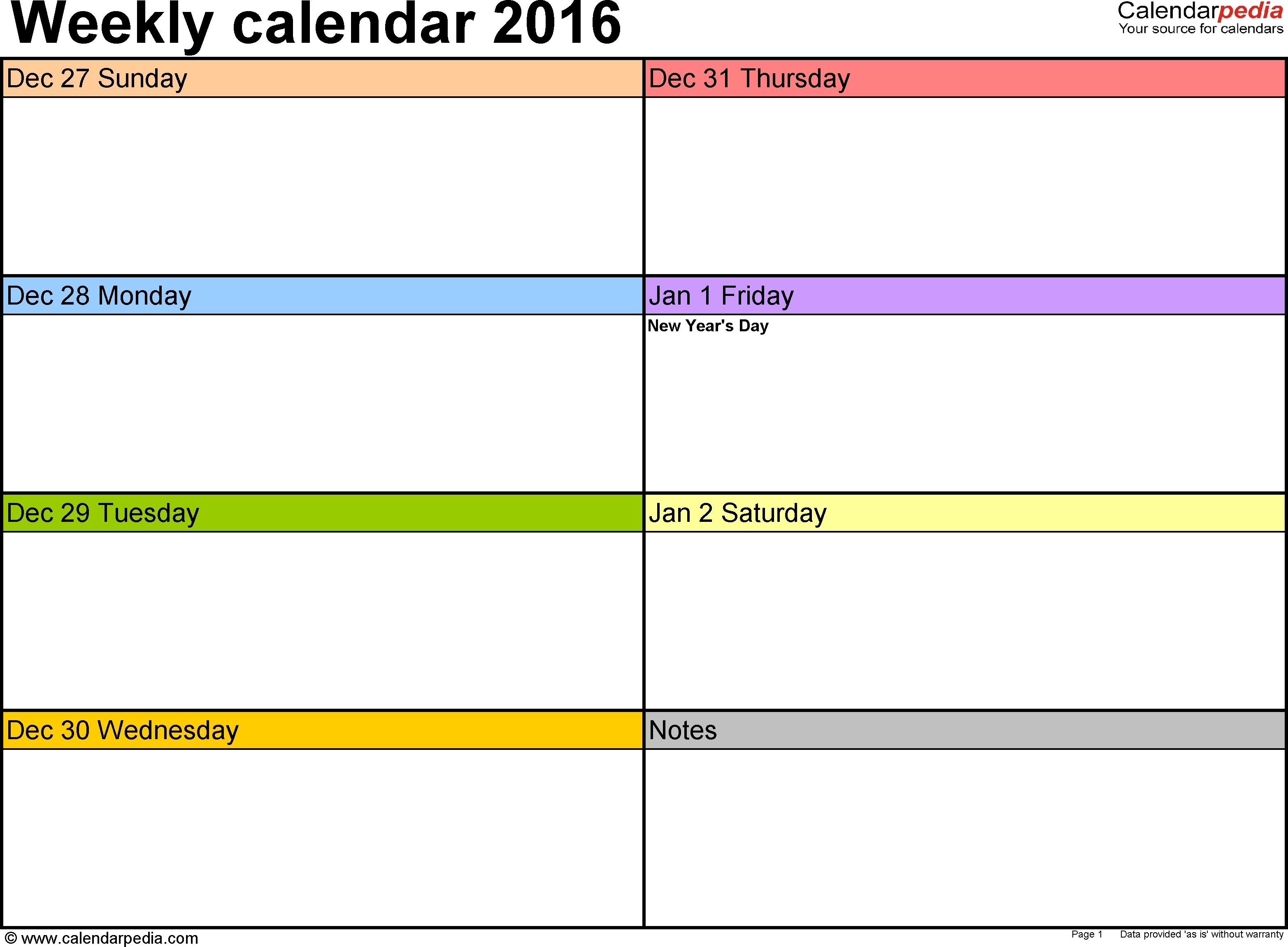 Printable Blank Weekly Calendars Templates - Radiodignidad in Blank Weekly Calendar With Time Slots