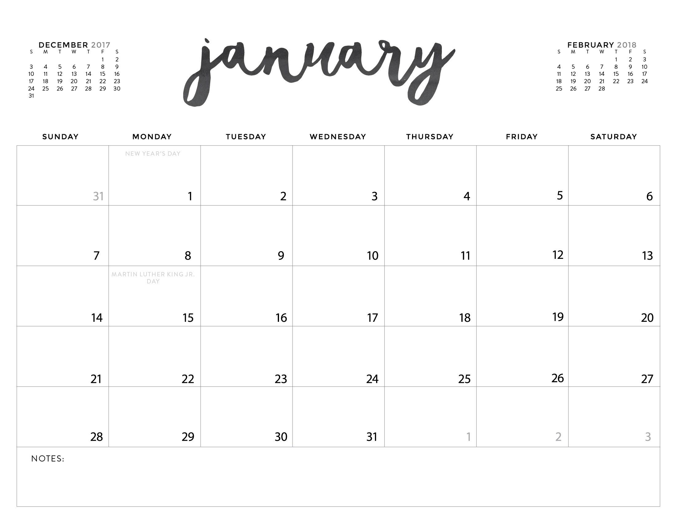 Printable Calendar 2018 A3 | Printable Calendar 2019 throughout A3 Blank Calendar Monthly Template