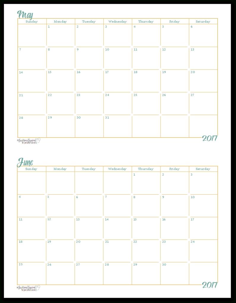 Printable Calendar 2018 Half Page | Printable Calendar 2019 in Half Page Monthly Calendar Printable