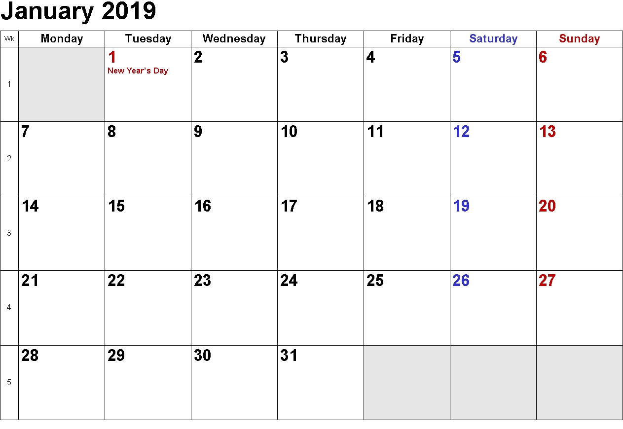 Printable Calendar 2019 Australia | Printable Calendar 2019 in Australian Months Of Year Printable
