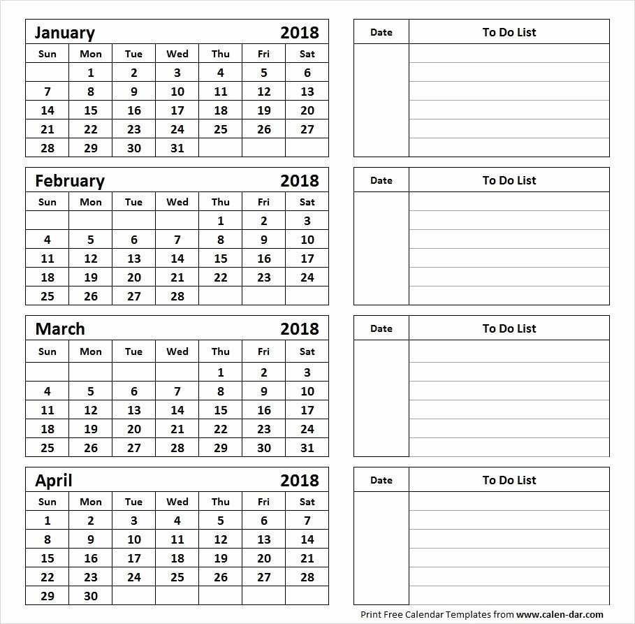 Printable Calendar 4 Months Per Page 2019 • Printable Blank Calendar pertaining to 3 Month Per Page Calendar
