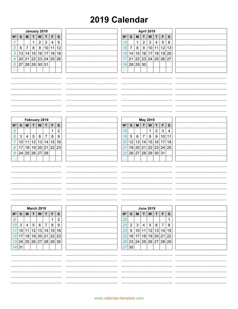 Printable Calendar 6 Months Per Page • Printable Blank Calendar Template throughout Printable Calendar 6 Months Per Page