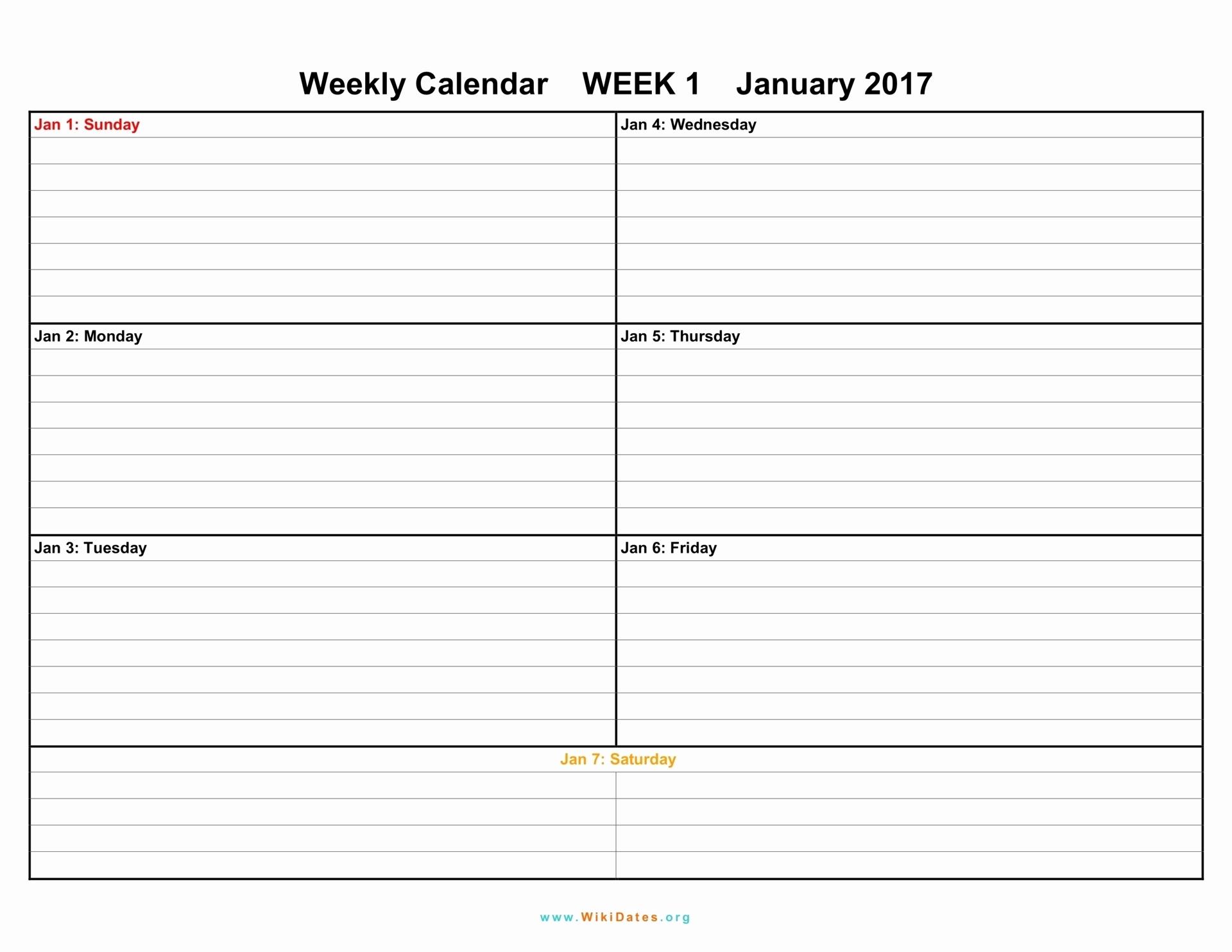 Printable Calendar Broken Into 2 Week Blocks 5 Weekly Schedule with regard to Blank Weekly Calendar To Fill In