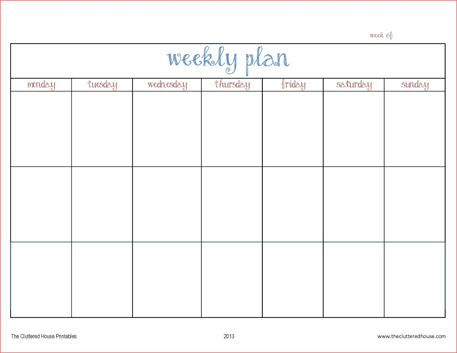 Printable Calendar Days Printable 4 Week Calendar Blank Days Of Week pertaining to Days Of The Week Printable Calendar