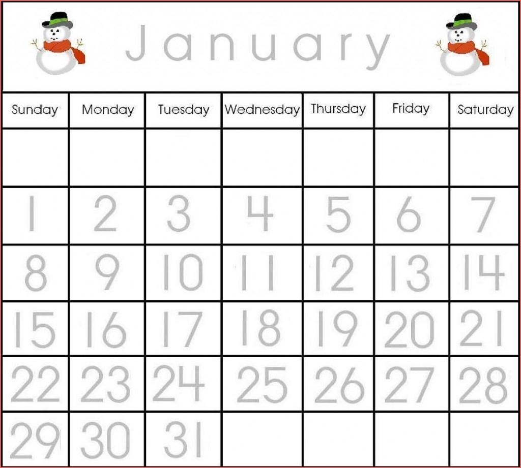 Printable Calendar Numbers 1 31 Free Free Calendar Template intended for Free Template Printable Calendar Numbers