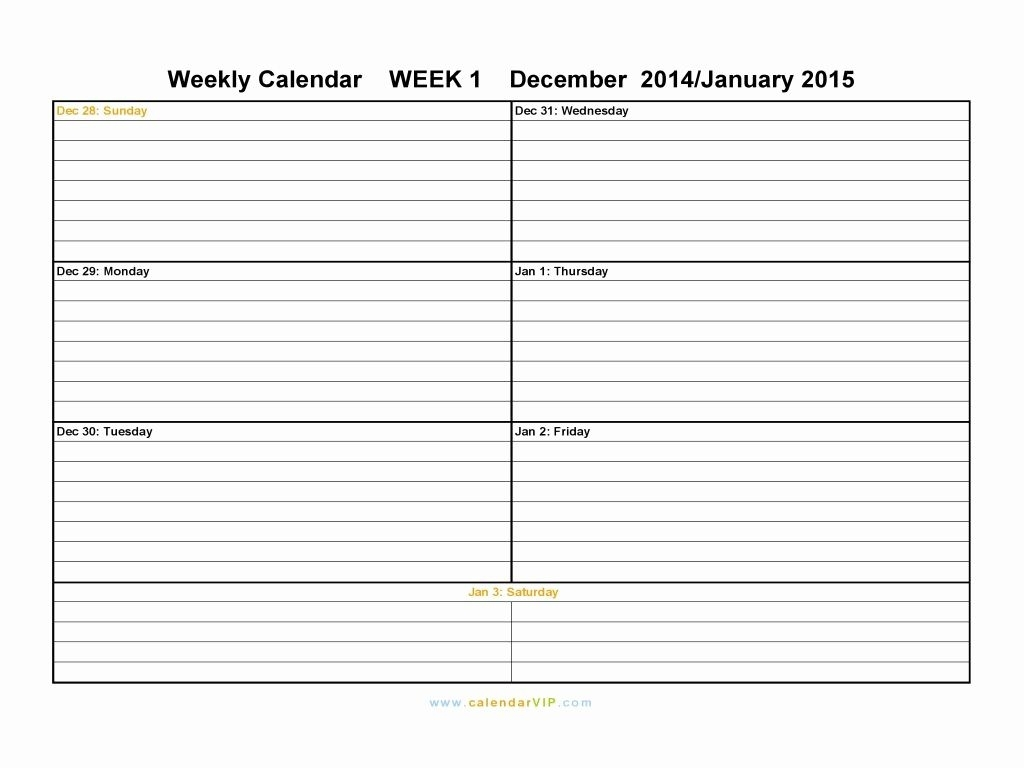 Printable Calendar One Week Printable Weekly Calendars Print Blank regarding Blank 2 Week Printable Calendar
