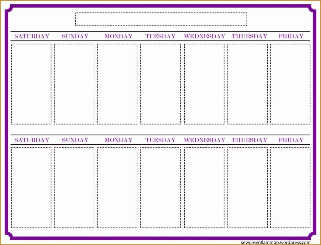 Printable Calendar Two Weeks | Printable Calendar 2019 inside Pictures Of A Two Week Calendar
