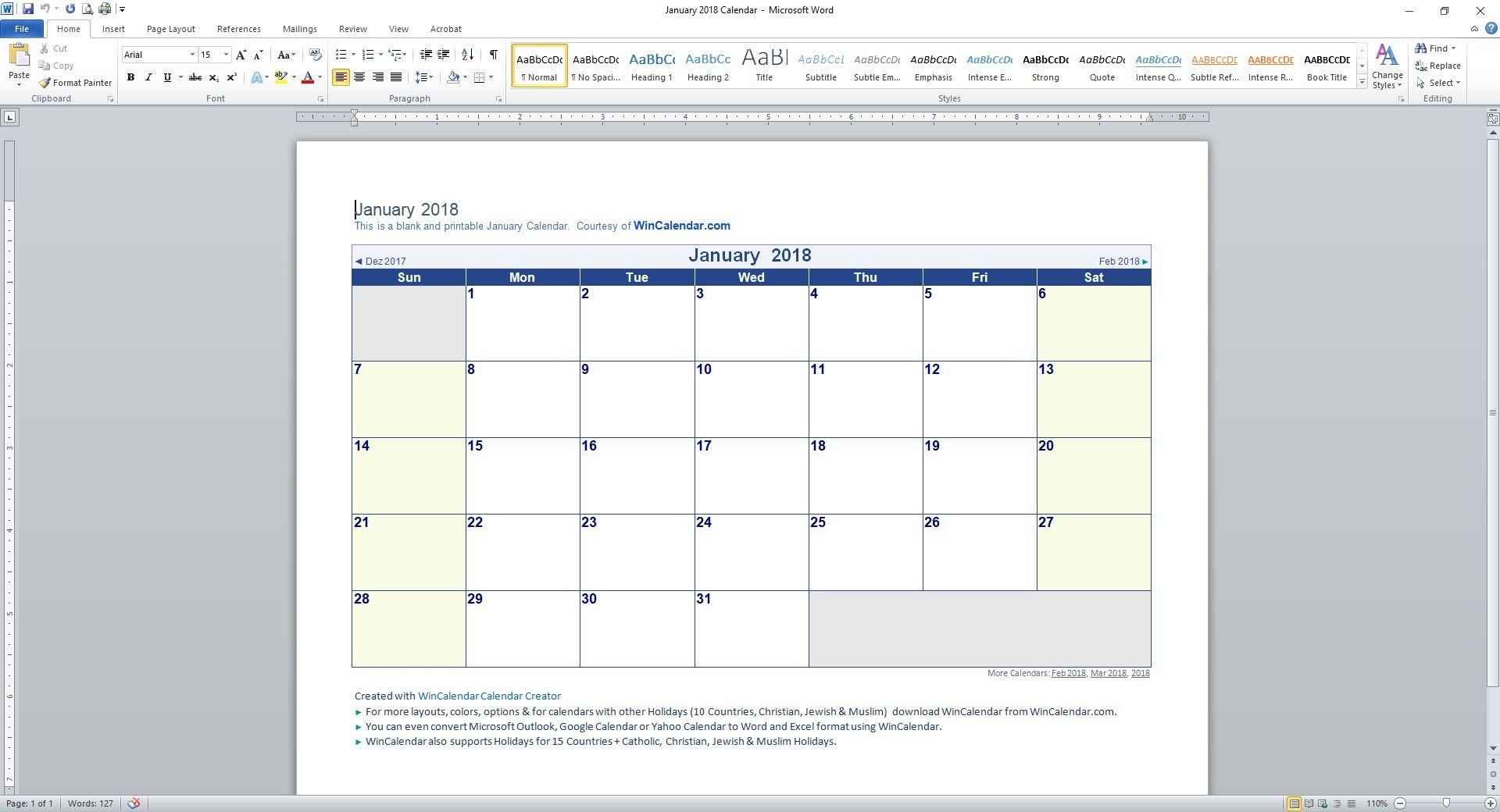 Printable Calendar Weekdays Only | Printable Calendar 2019 with Blank Calendar With Only Weekdays