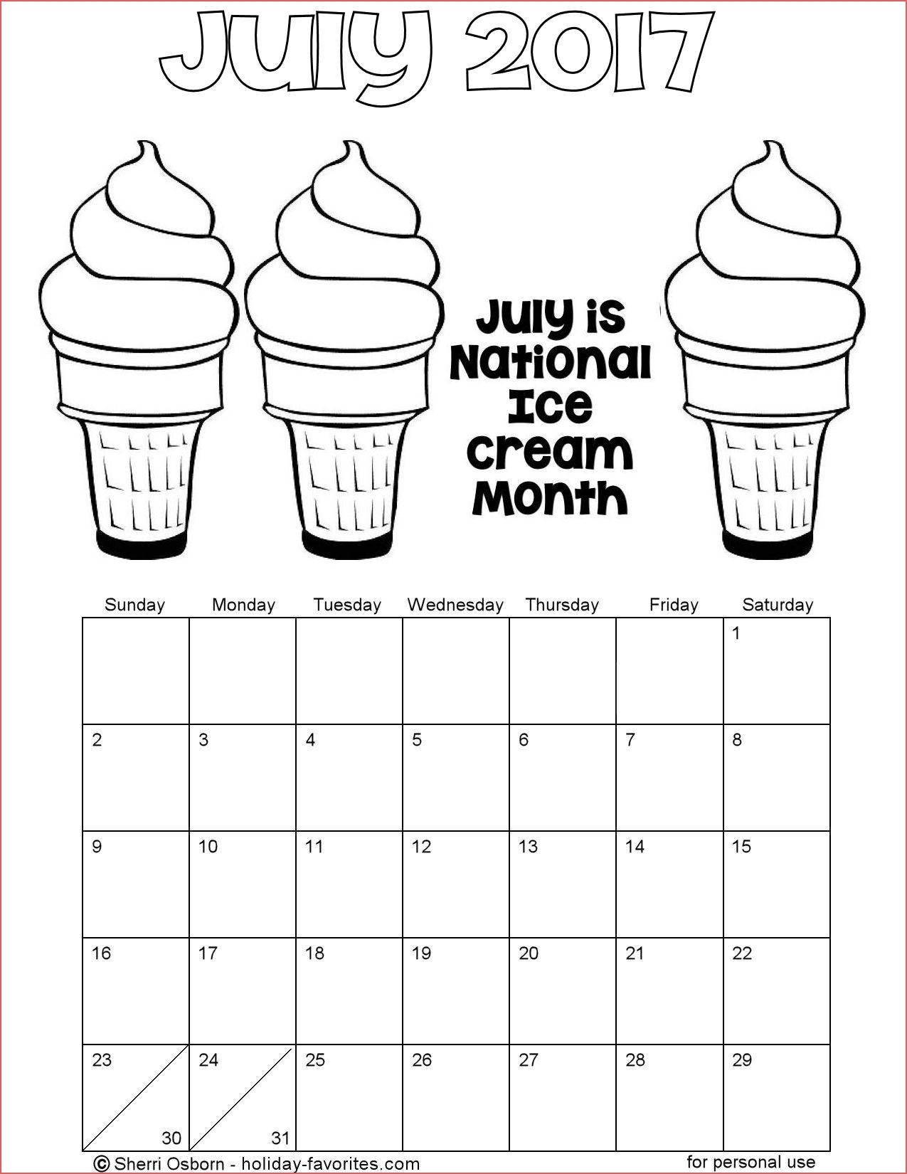 Printable Coloring Calendar Monthly Calendar Coloring Pages Download with regard to Free Coloring Calendars For June