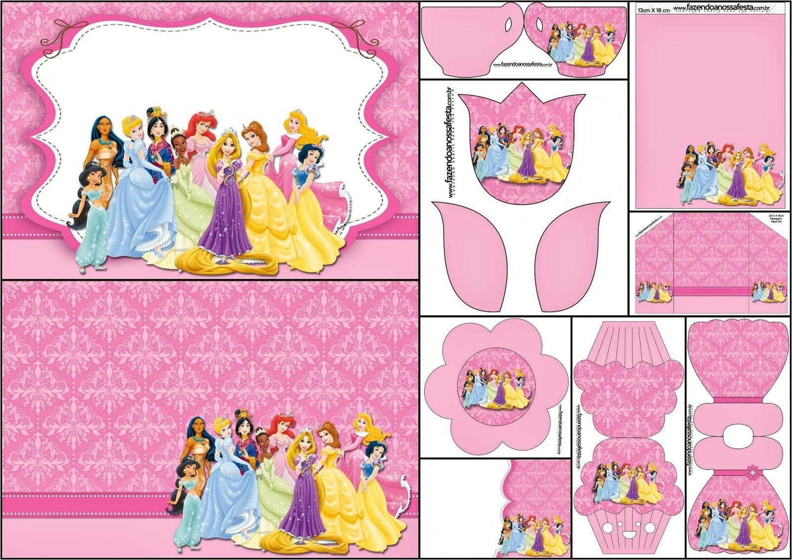 Printable Disney Birthday Invitations intended for Disney Princess Letter Head Templates Free