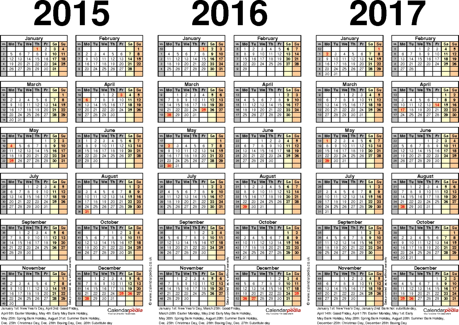 Printable Julian Calendar 2015 pertaining to Julian Year Calendar 2015 Printable