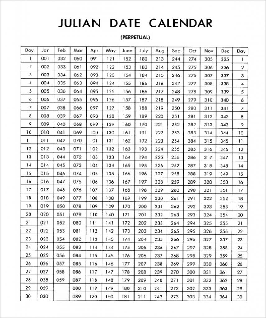 Printable Julian Calendar Julian Calendar 2018 Calendar Printable inside What Is A Julian Calendar