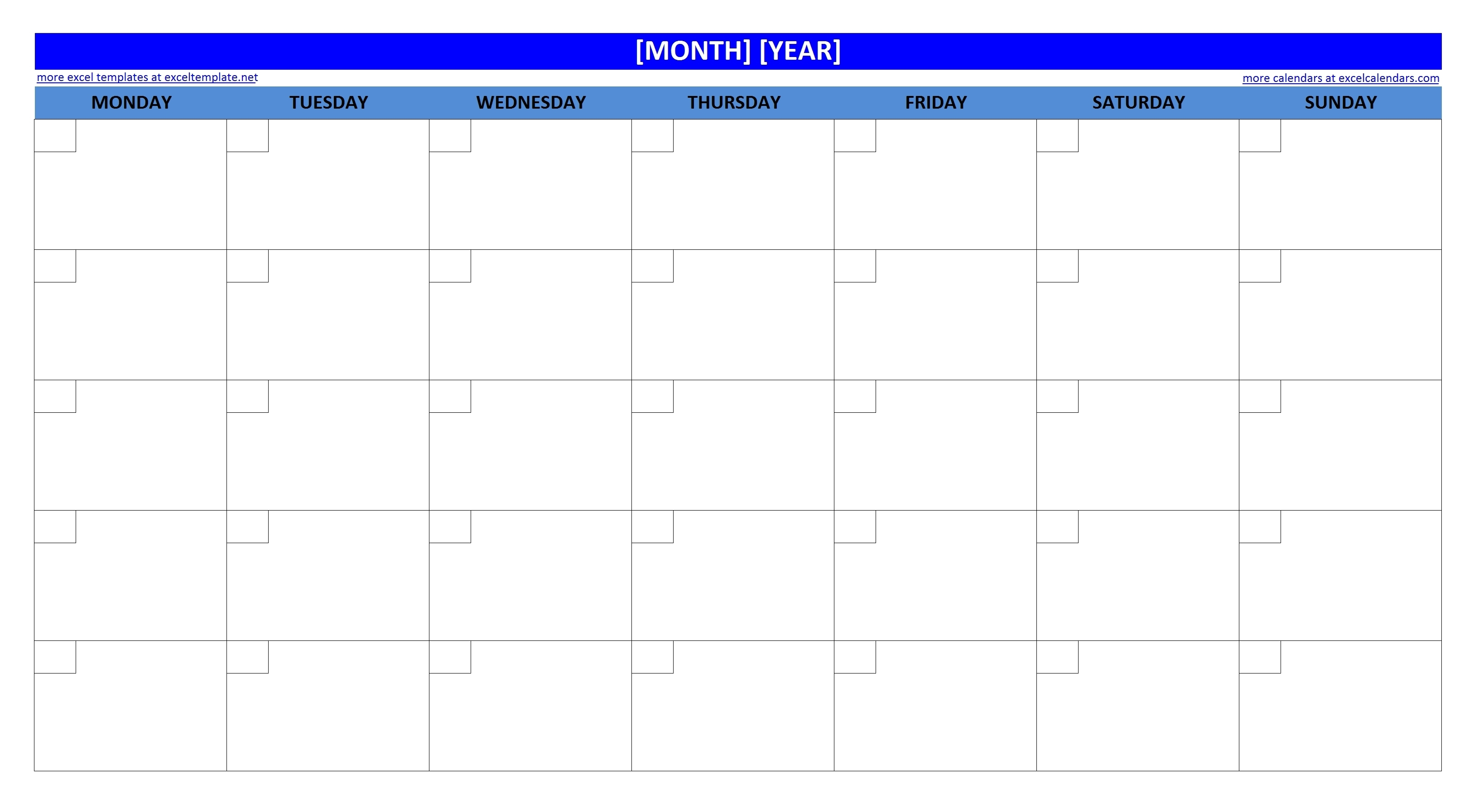 Printable-Large-New-Monthly-Calendar regarding Large Blank Monthly Calendar Template