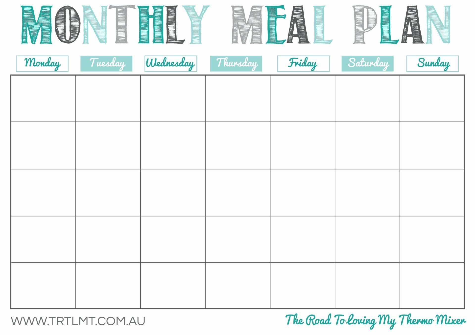 Printable Monthly Meal Planner | Organization In 2019 | Meal Planner throughout Free Blank Monthly Planner Templates