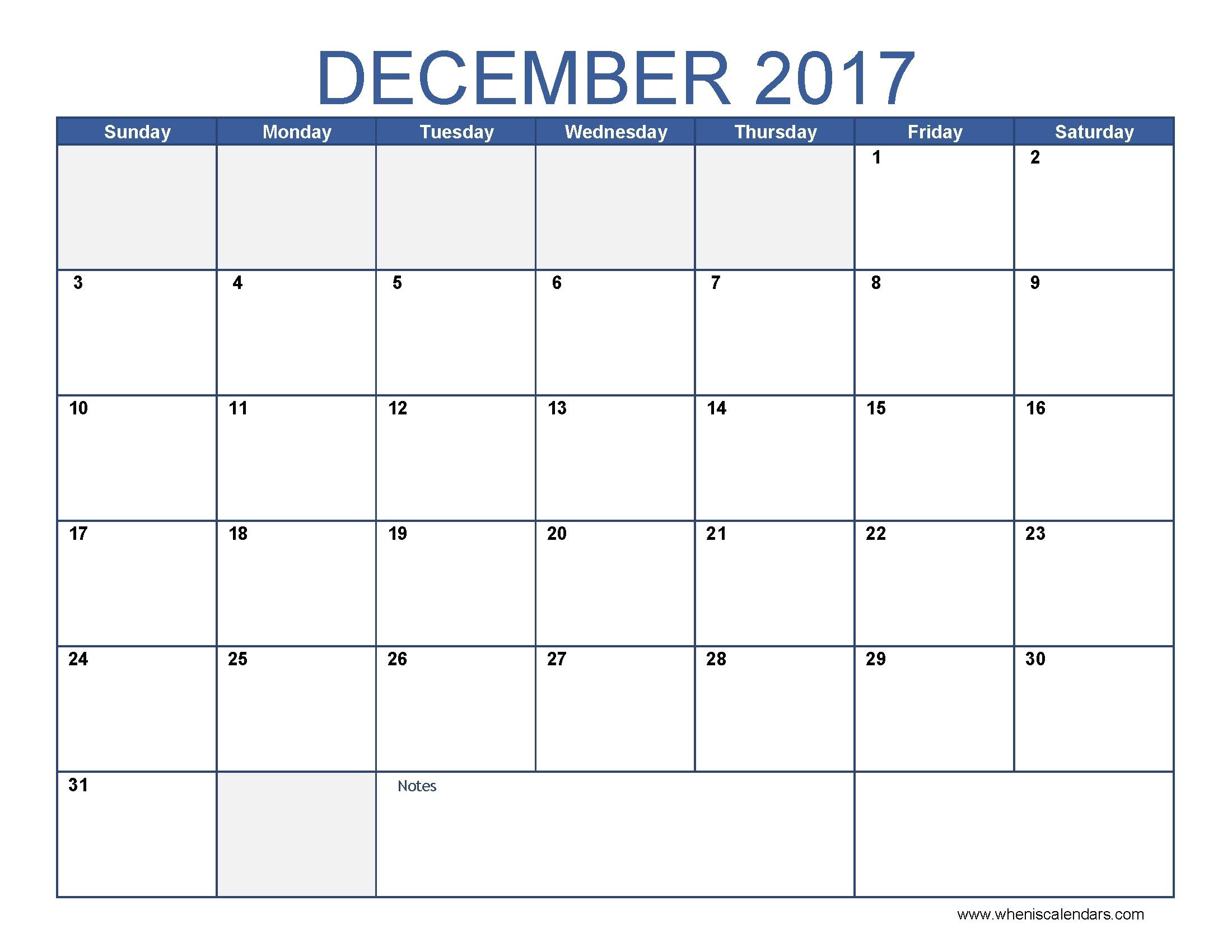 Printable Nov Dec 17 Calendar | Calendar Format Example inside Printable Nov Dec 17 Calendar