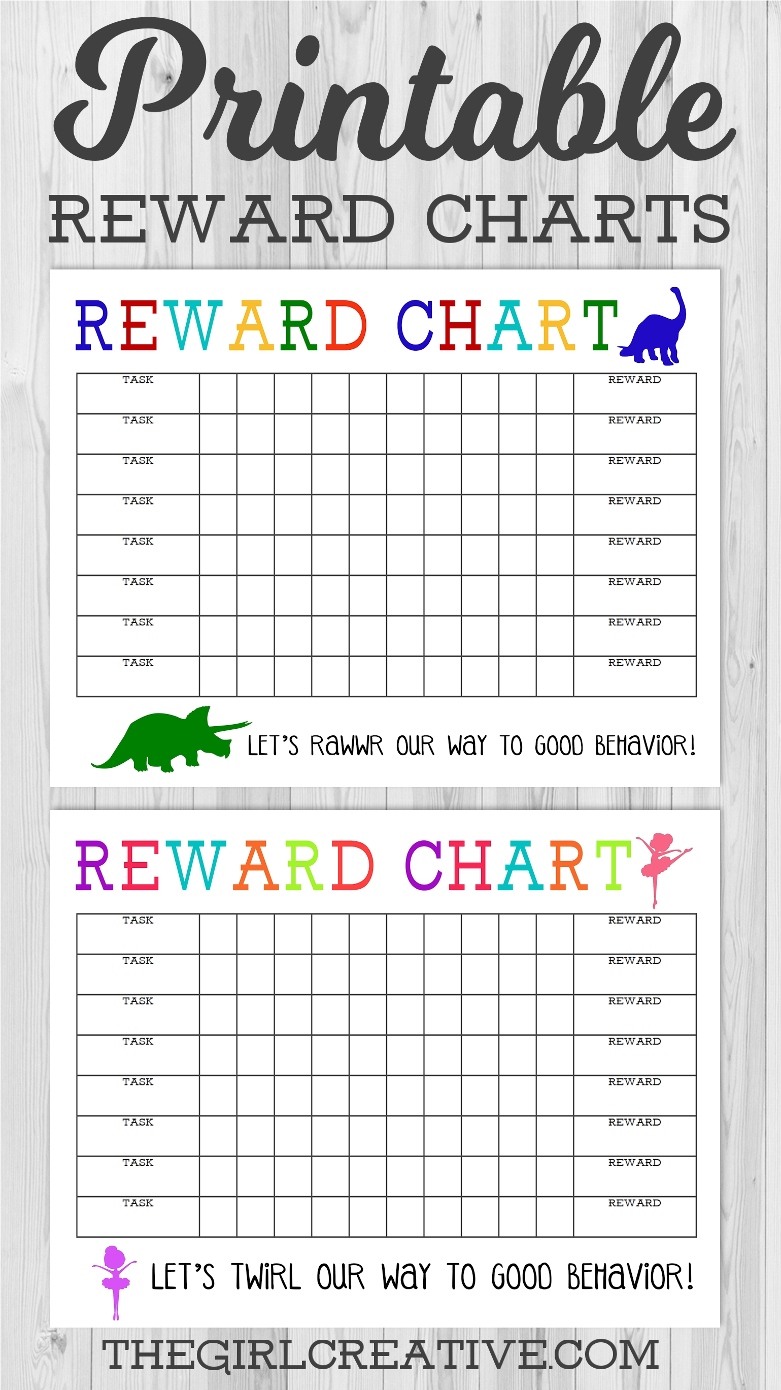Printable Reward Chart - The Girl Creative regarding Free Printable Blank Behavior Charts