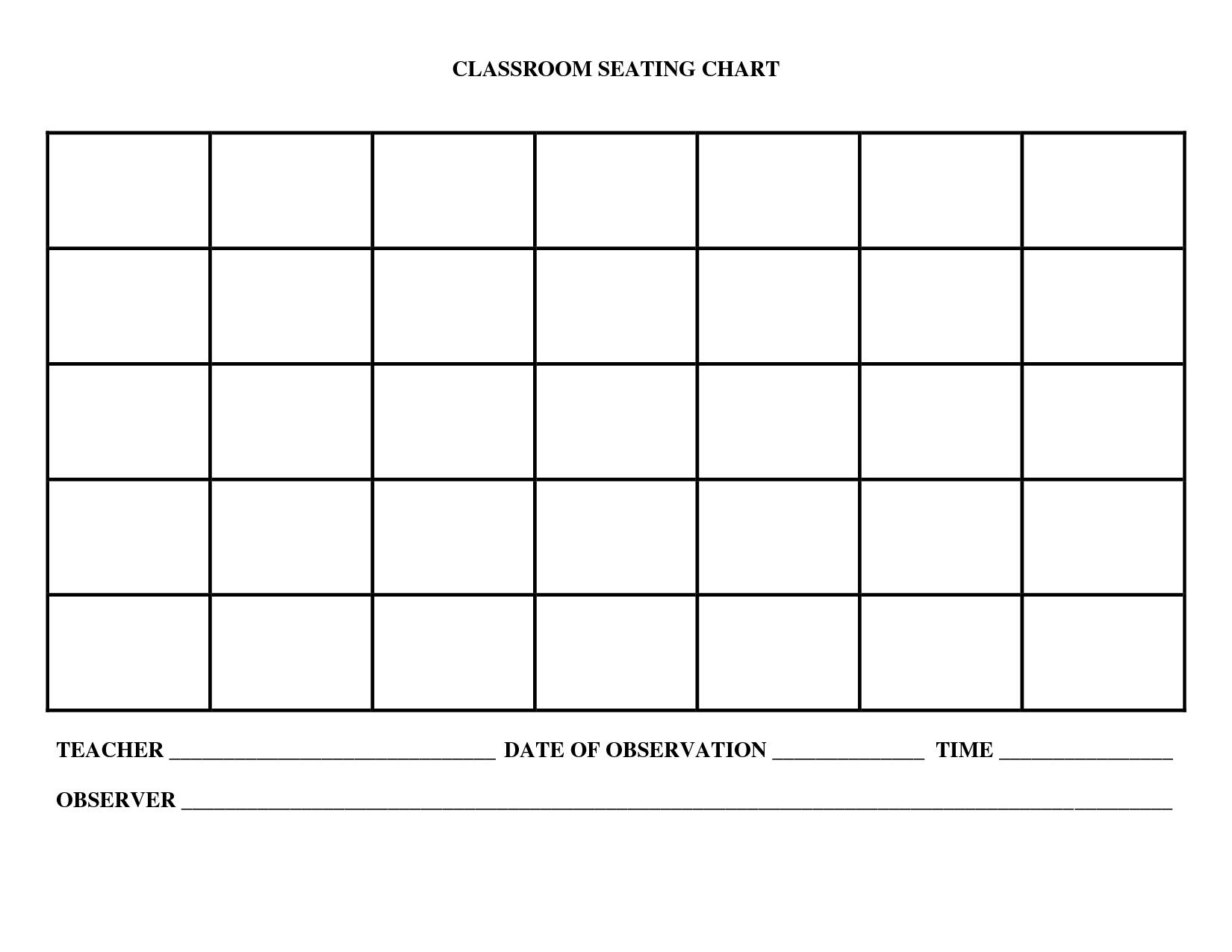 Printable Seating Chart Maker - Uma Printable regarding Printable Church Seating Chart Template