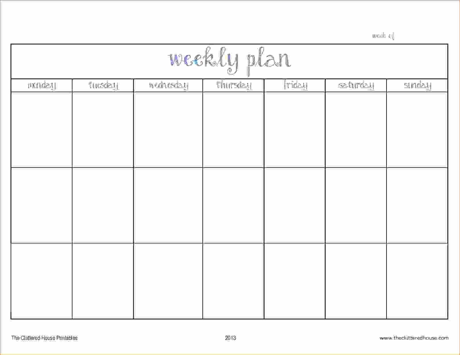 Printable Week Calendar Schedule Template Free Two Blank Design | Smorad for 2 Week Calendar Printable Free