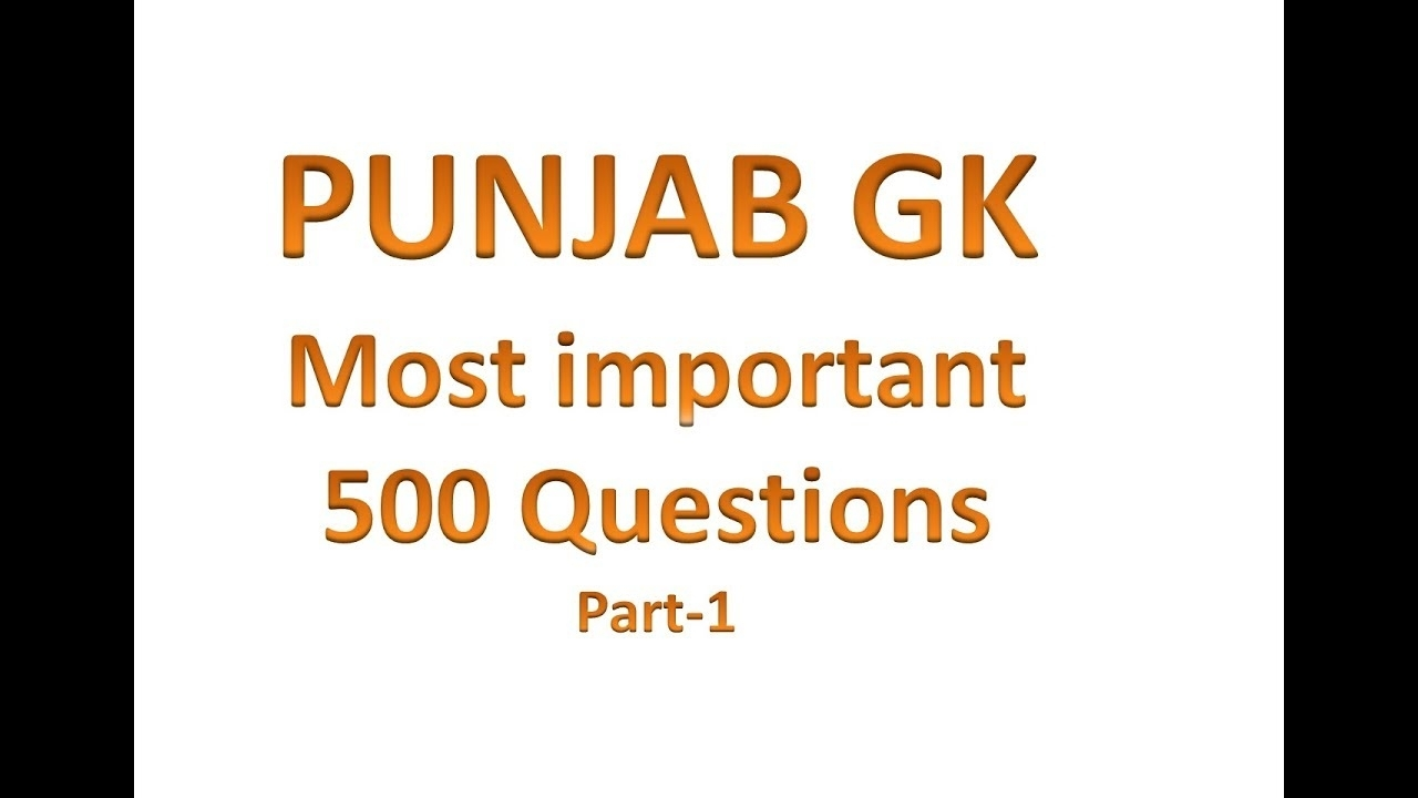 Punjab Gk Most Important 500 Questions For Punjab State Exams In Punjabi with regard to Days Of The Week In Punjabi