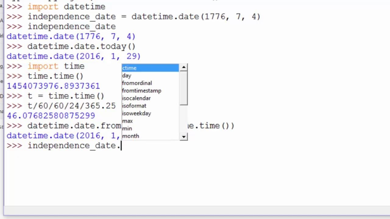 Python: Datetime.date - Youtube with regard to Example Of Calendar Month Python 3