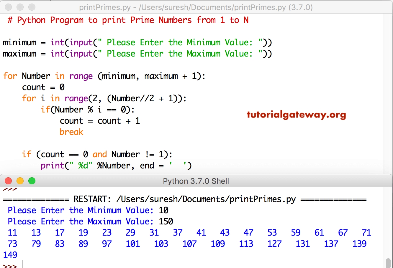 Python Program To Print Prime Numbers From 1 To 100 in Numbers 1 31 To Print