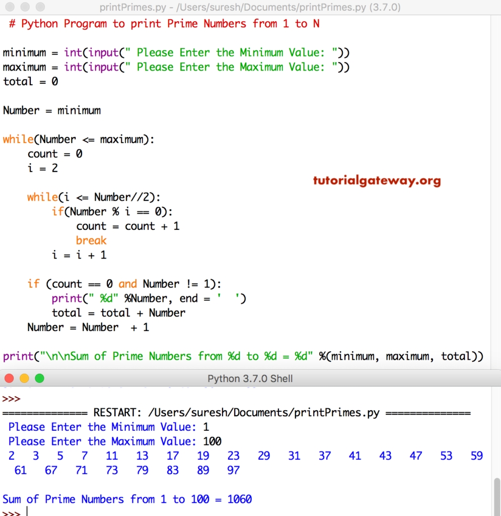Python Program To Print Prime Numbers From 1 To 100 regarding Numbers 1 31 To Print