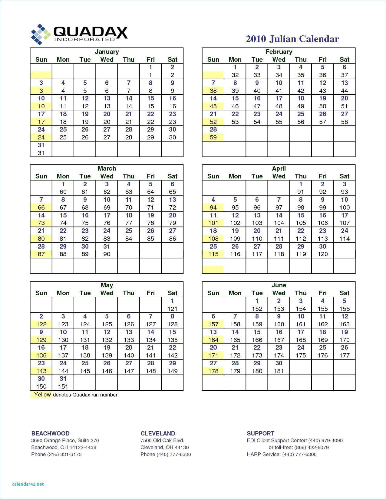 Quadax Julian Date Calendar 2018 Printable Template For Year 2 pertaining to 118 Day Of The Year Julian