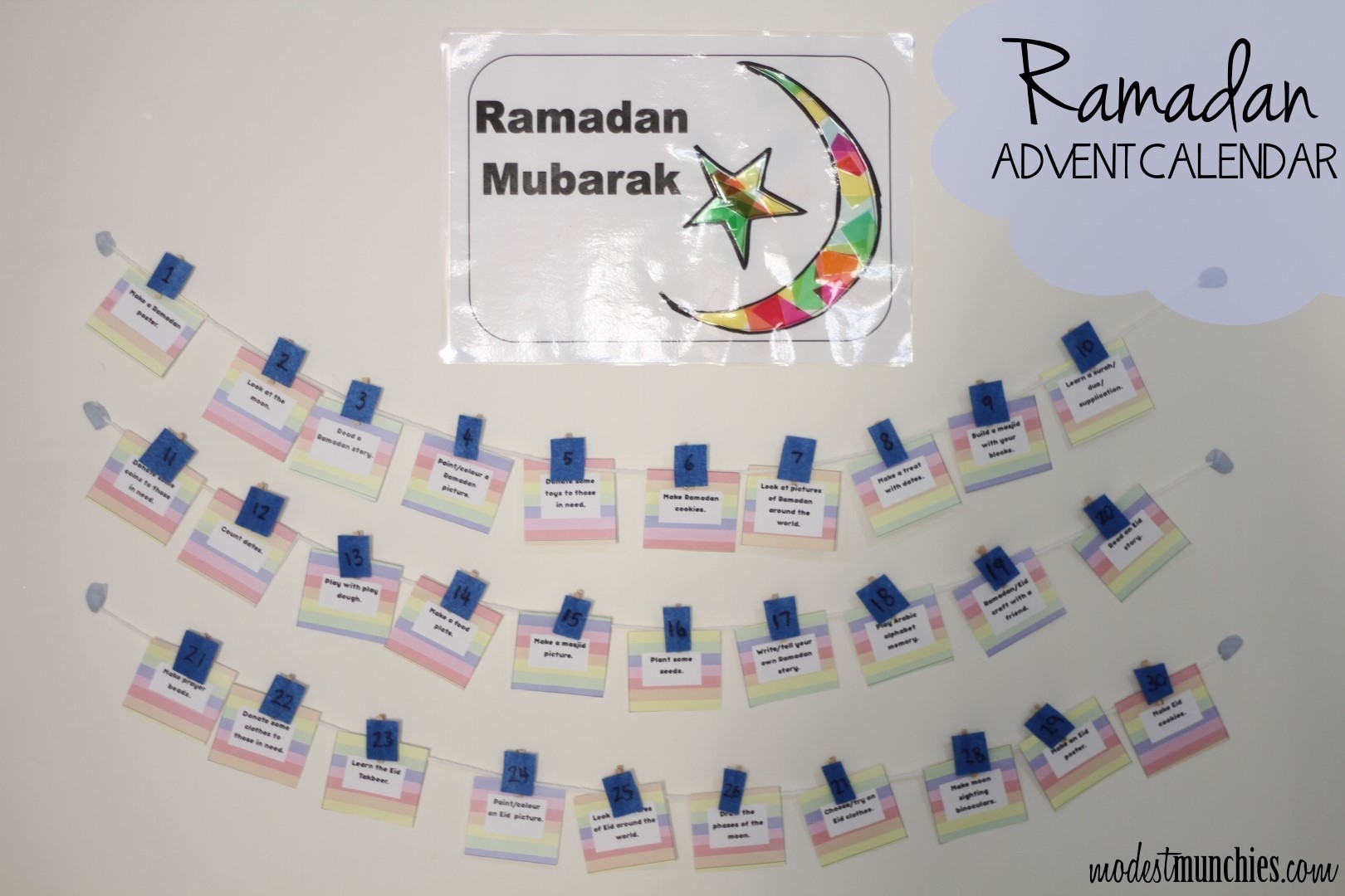 Ramadan Advent Calendar - Modest Munchies pertaining to Advent Calendar Arts And Crafts For Preschool
