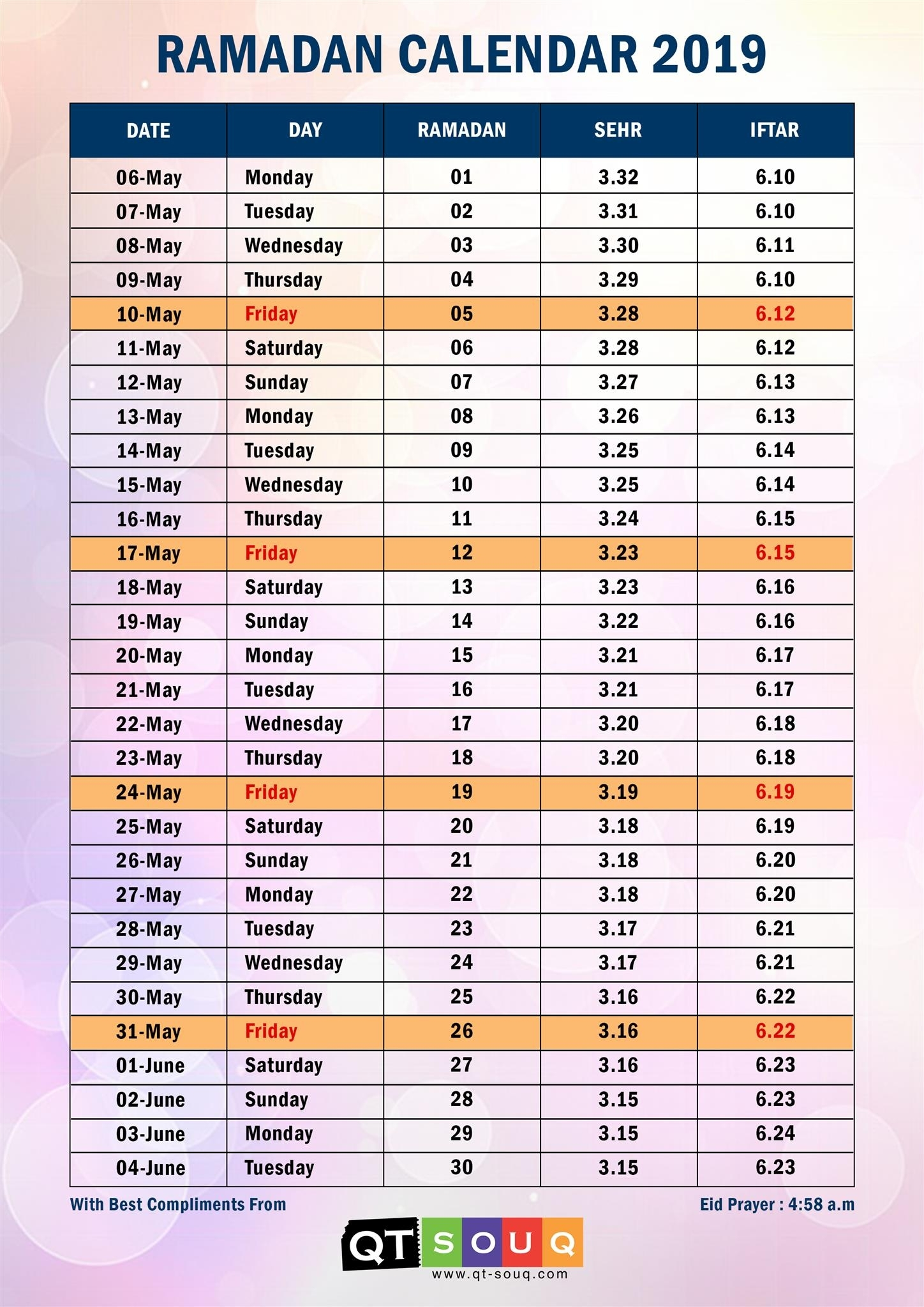 Ramadan Calendar For The Year 2019. Why Ramadan Falls On A Different with regard to Islamic Calendar For Ramadan For The Future