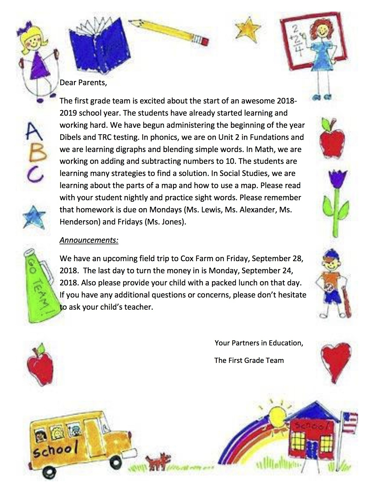 Raymond Education Campus for 1St Grade Newsletters In 1St Grade