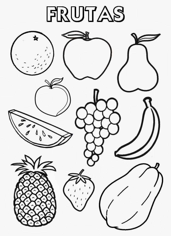 Recursos Para Educación Inicial: Frutas Y Verduras Para Colorear within Dibujos De Campos Sin Pintar De Preecolar