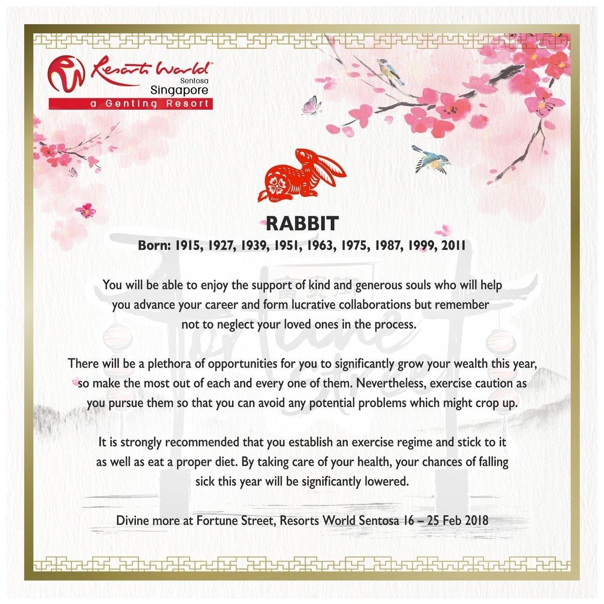 "Resortsworldsentosa On Twitter: ""4/12: The Rabbit! More Zodiac within Zodiac For Birth Year 1951"