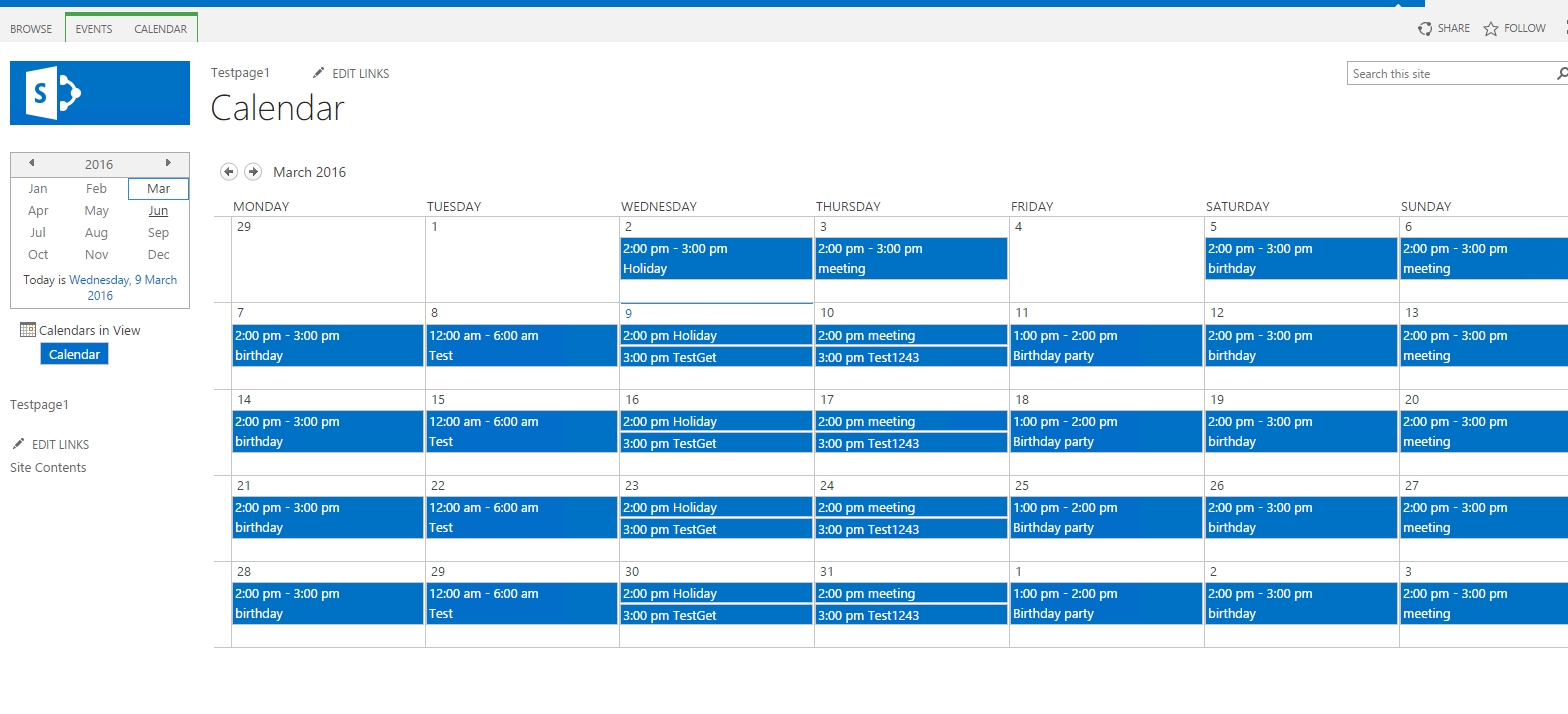 Samit's Blog: Sharepoint 2013 Calendar Overlay Feature Manual And intended for How To Display Image Of Sharepoint Calendar